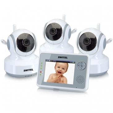 Видеоняня Switel BCF990 Trio (удаленный поворот, 8,89 см, 3 камеры)
